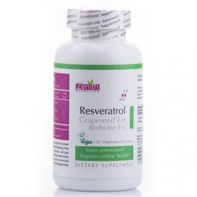 Buy Zenith Nutrition Resveratrol Grapeseed Ext Red Wine Capsules