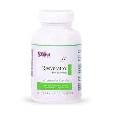 Buy Zenith Nutrition Resveratrol Plus With Gymnema Sylvestre