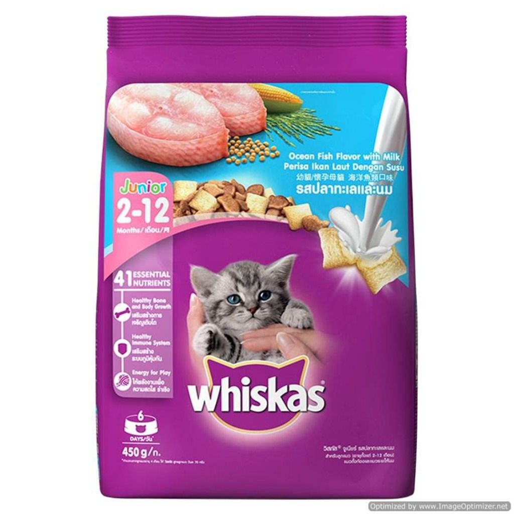 Pedigree Whiskas Junior Ocean Fish Cats Food